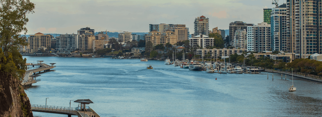 Brisbane River area where our buyers agents invest in property